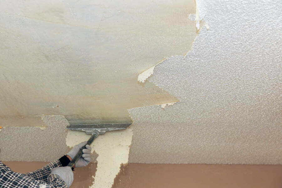 take off in the popcorn ceiling home wall texture removal ceiling drywall demolition